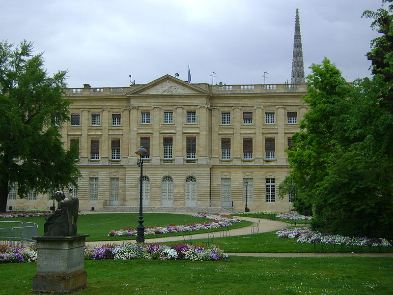 Primary Municipal Building, the Palais de Rohan, in Bordeaux, France