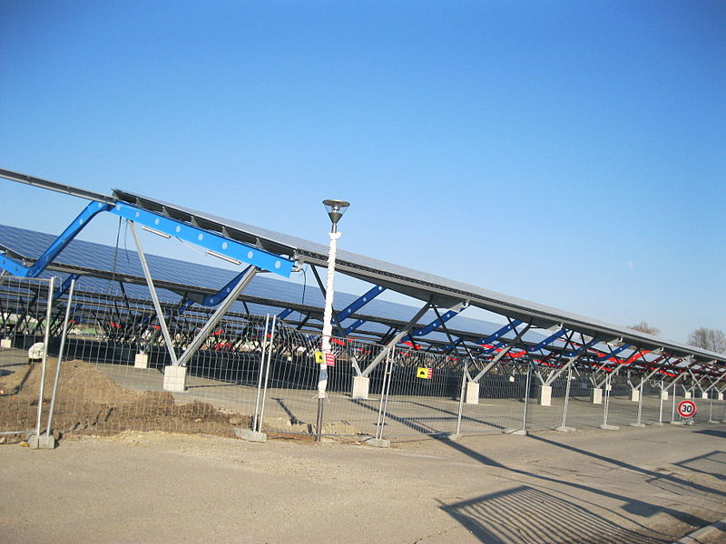 Solar Panels on Roof of Parc des Expositions, Bordeaux, France