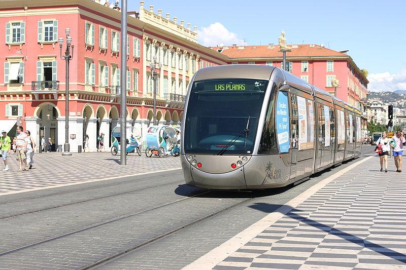 Tram Car on Nice, France Tramway Line 1