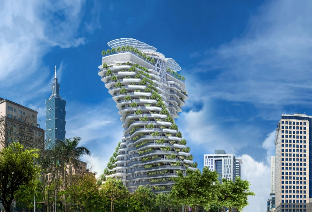 Futuristic greenwashed highrises undermine paris smart for Architecture 2050