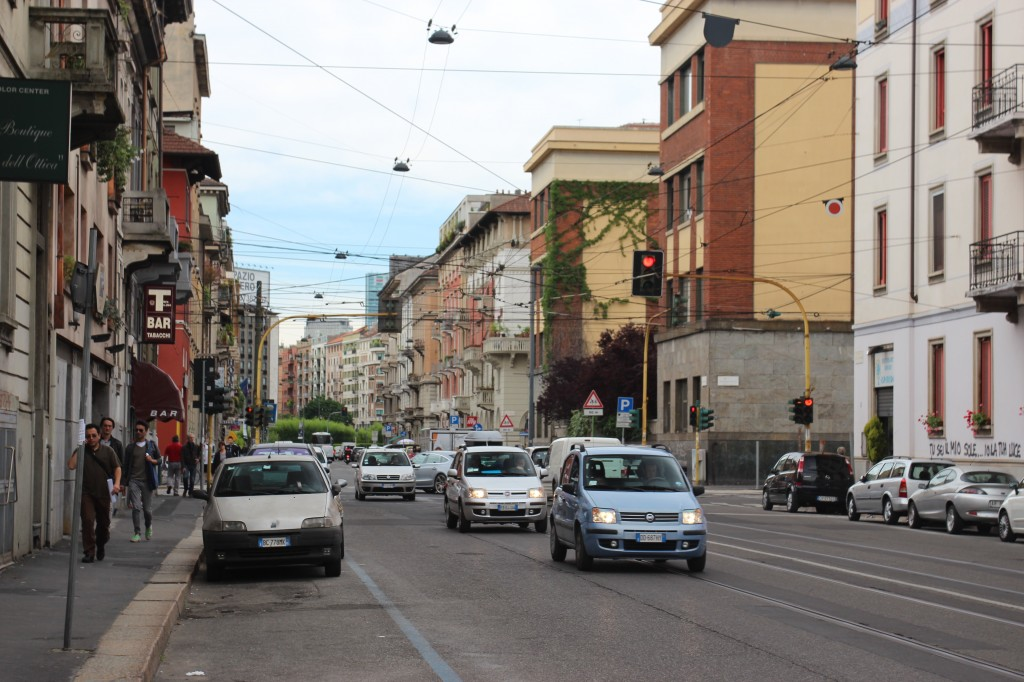 Street Traffic in Milan, Italy