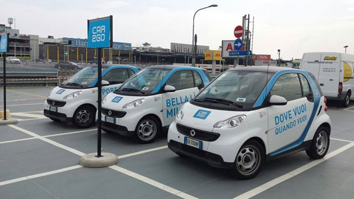 Car2Go Car sharing in Milan, Italy