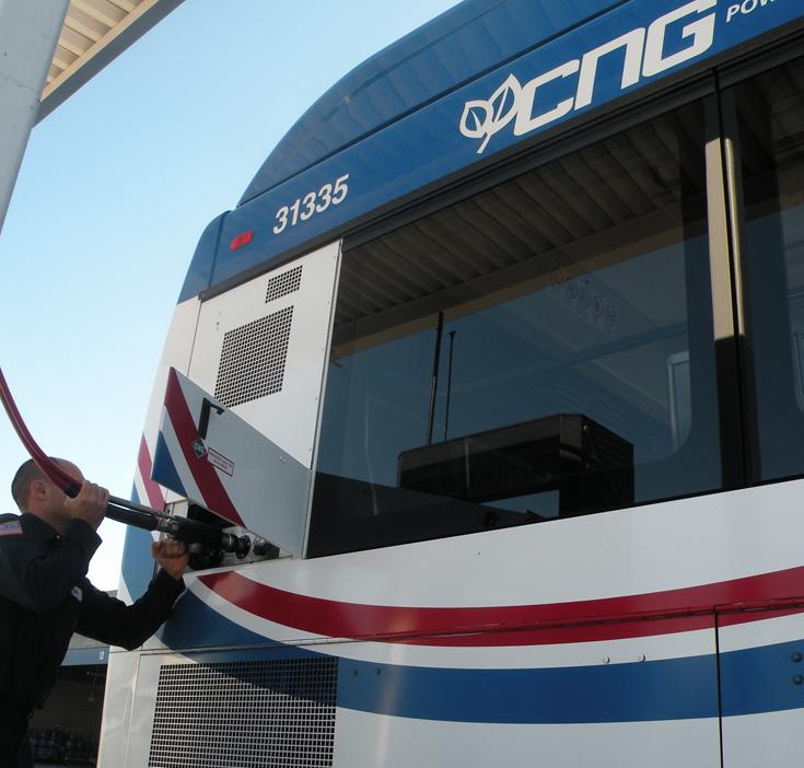 Riverside Transit Agency CNG Bus Filling