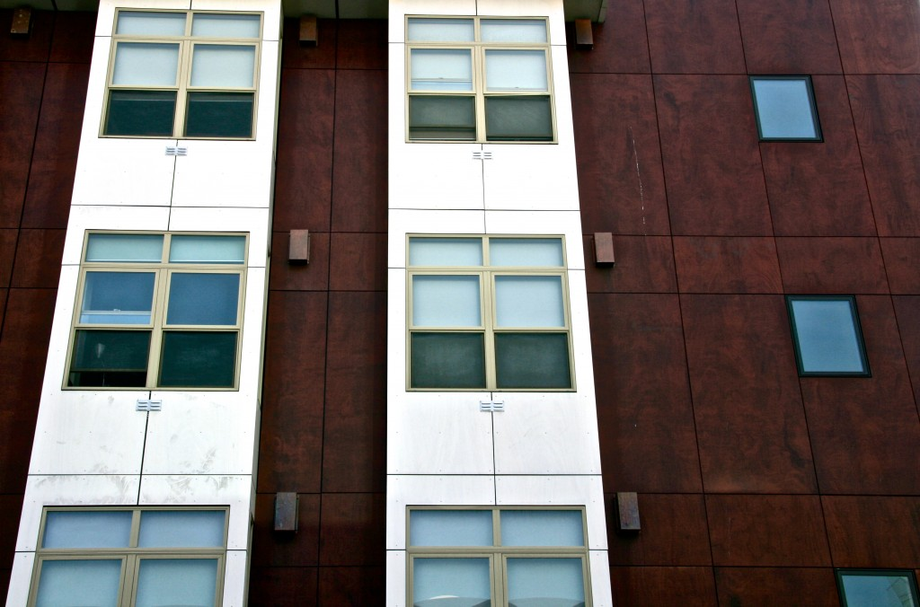 SmartSpace Micro-apartment facade, San Francisco, California.