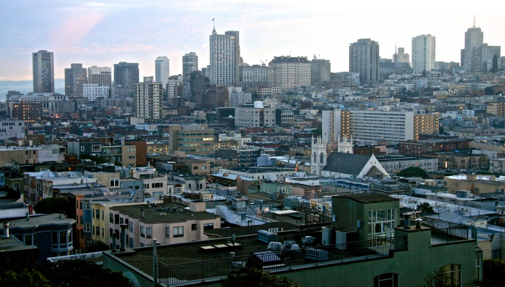 Overview of city fabric density, San Francisco, California.