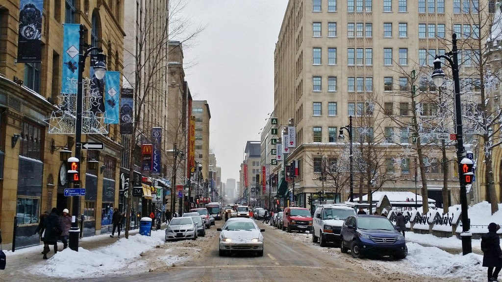 Ste Catherine Street and Union, Montreal, Quebec, Canada