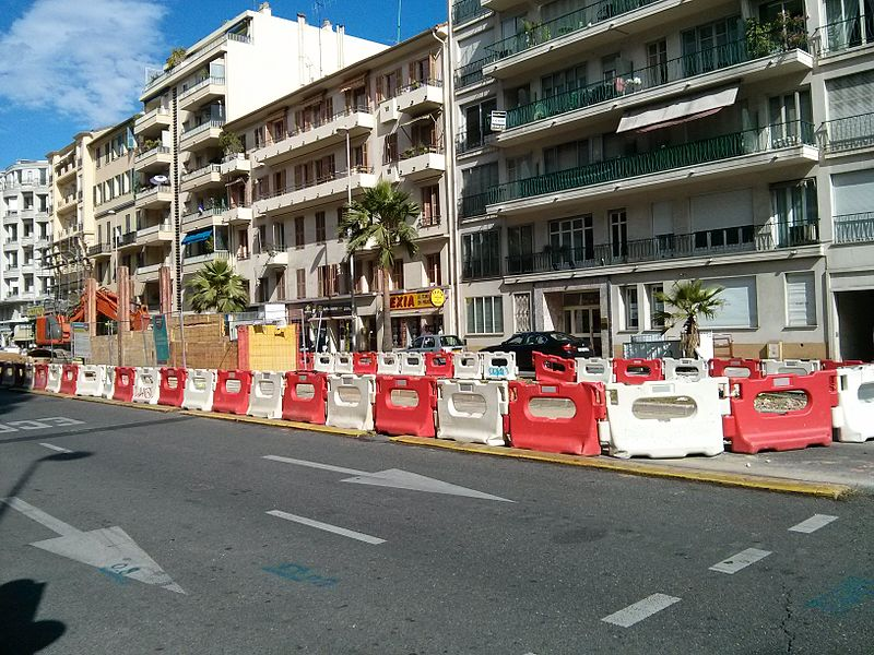 Preliminary Construction on Nice, France Tramway Line 2