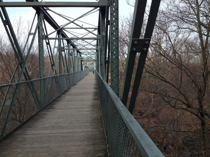 Willimantic Footbridge in Windham, Connecticut