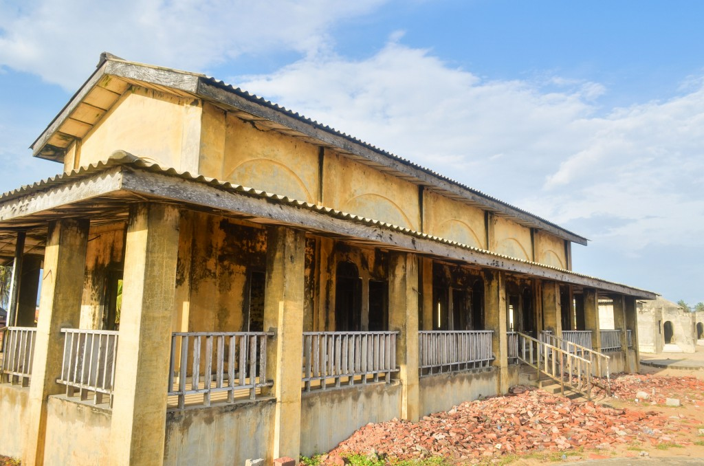 Colonial-Style House in Ouidah, Benin, Africa