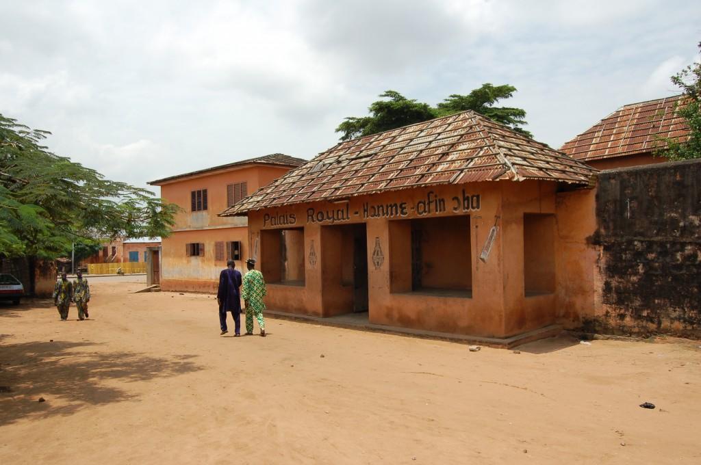 Concrete Palais Royal Building, Benin, Africa