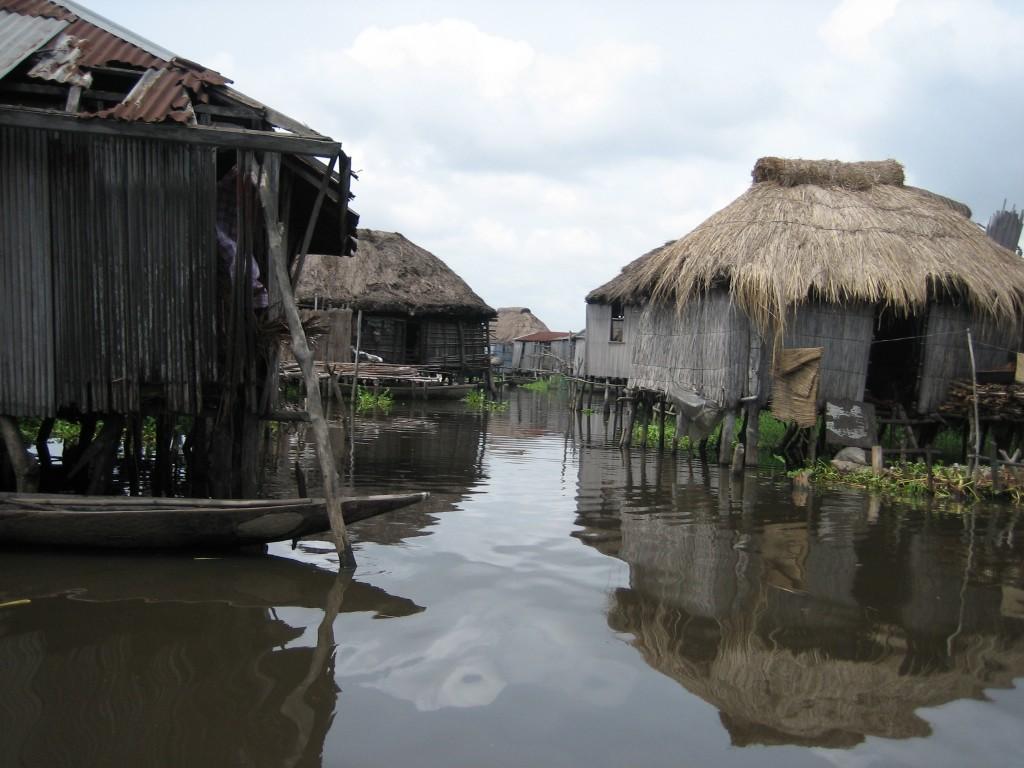 Houses on Stilts in Ganvie, Benin, Africa