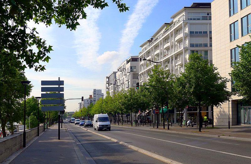 Paris 13th District Quai Panhard et Levassor, Paris, France