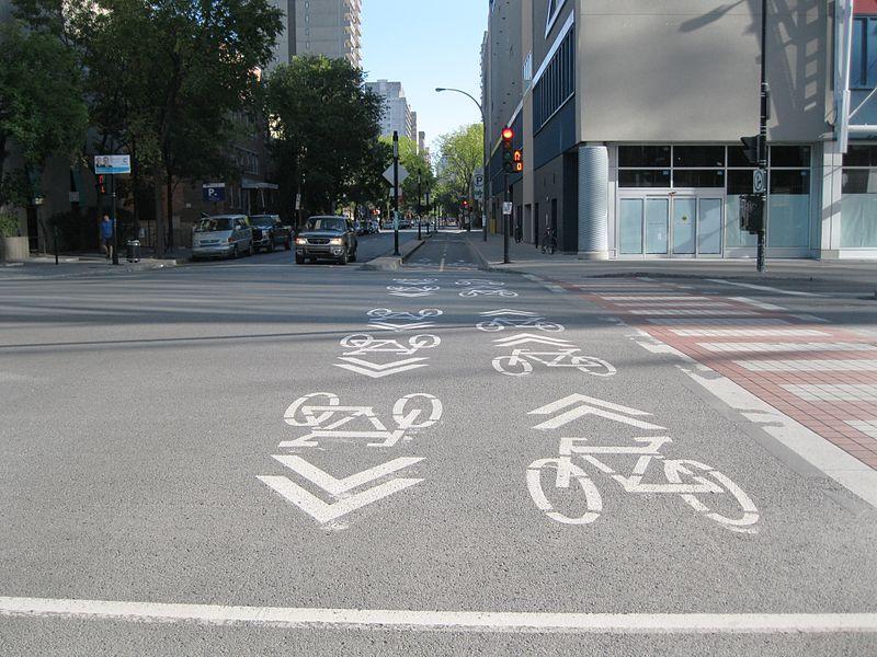 Claire Morissette Bike Lane, Montreal, Canada