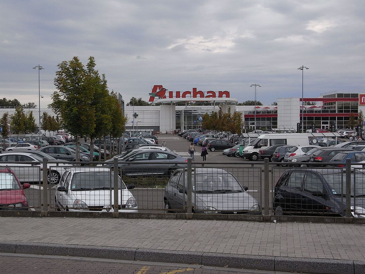 Auchan Hypermarché parking lot, Strasbourg, France