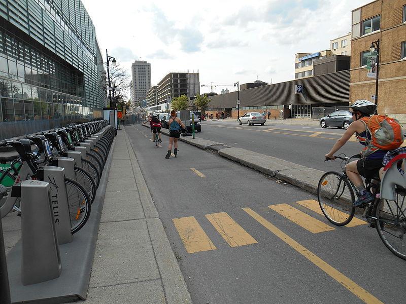 Rue Berri Bike Lane Montreal, Canada