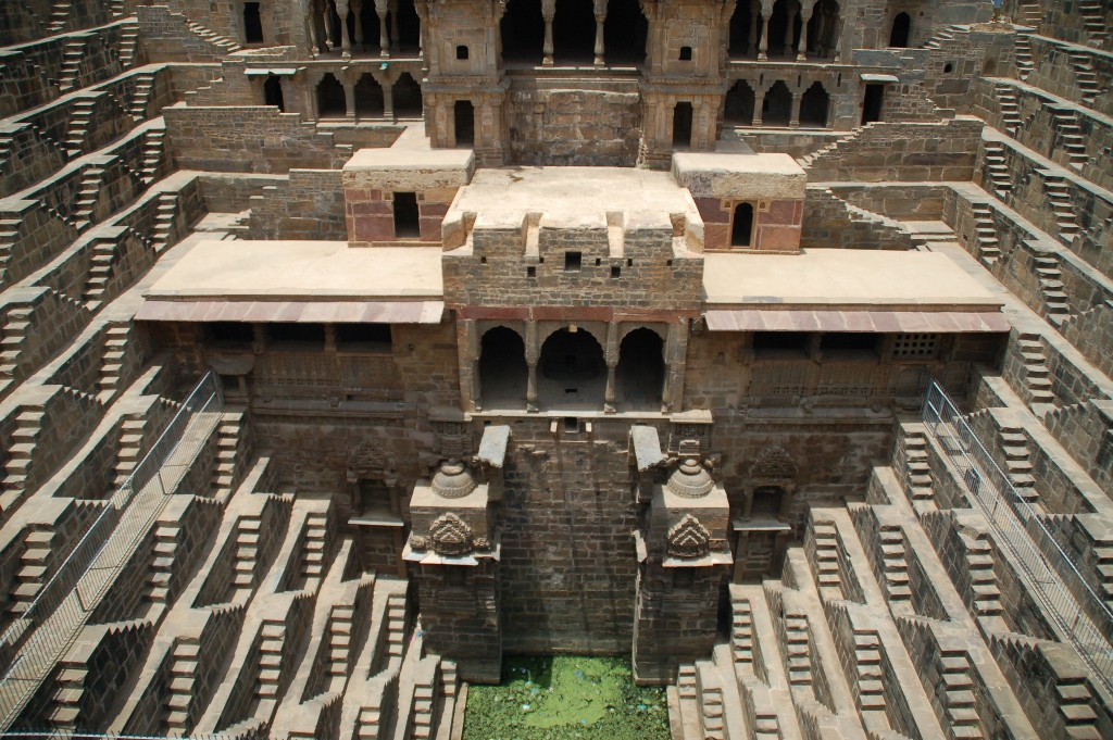 Image of an abheneri, traditional rajastani step-well, Mumbai, India