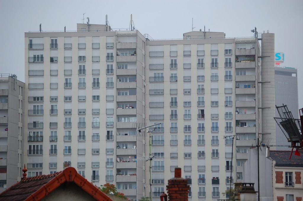 Low-Income Housing Building In Parisian Banlieue, Paris, France