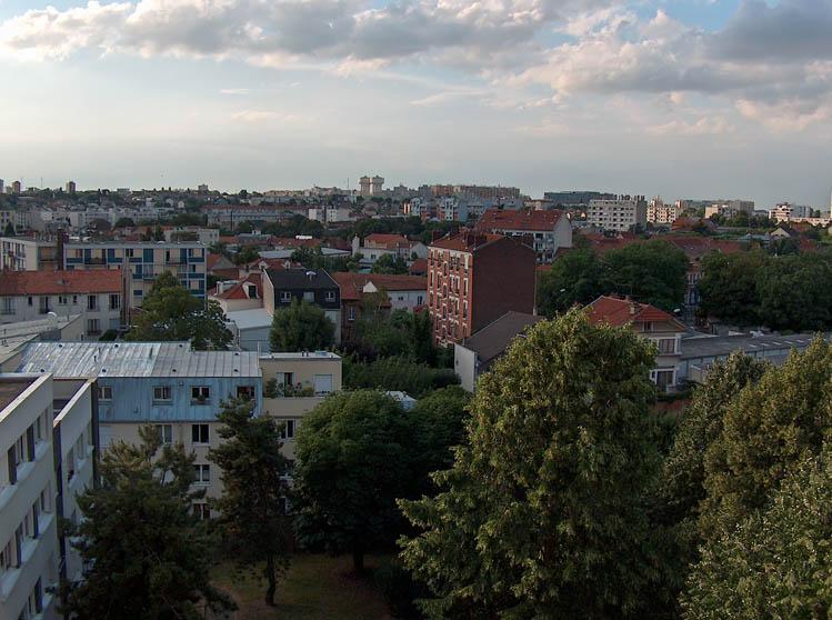 Cityscape of Montreuil, Seine-Saint-Denis, Paris, France