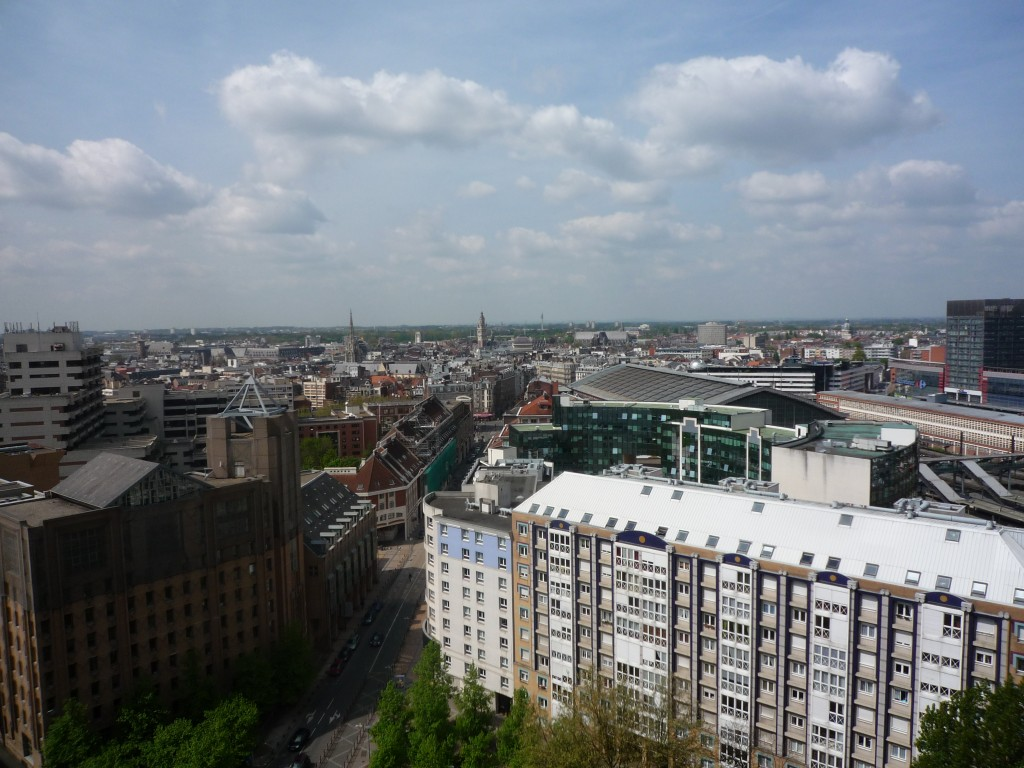 Overhead View of Lille, France Urban Density