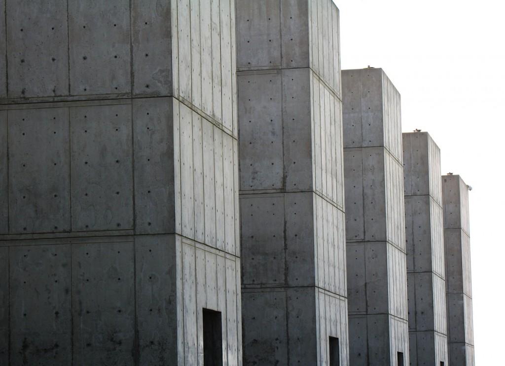 Louis Kahn Salk Institute courtyard building detail, La Jolla, California
