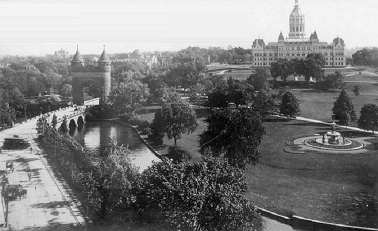 Park River through Bushnell Park, Hartford, Connecticut