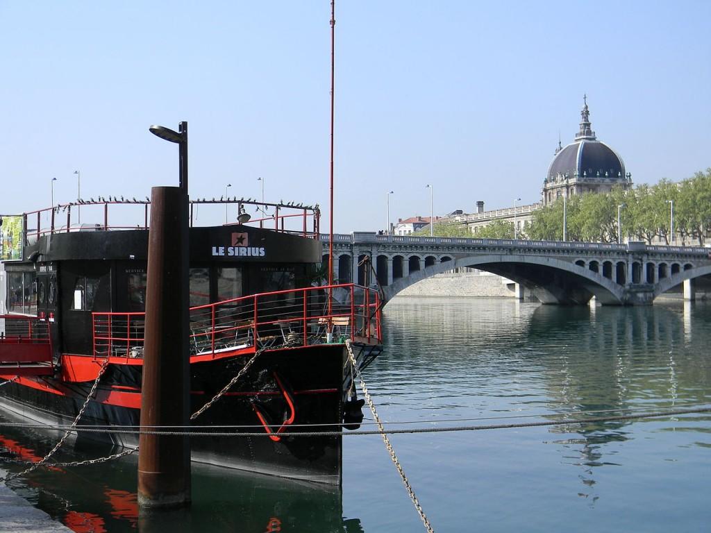 Barge on the Rhône, Paris, France