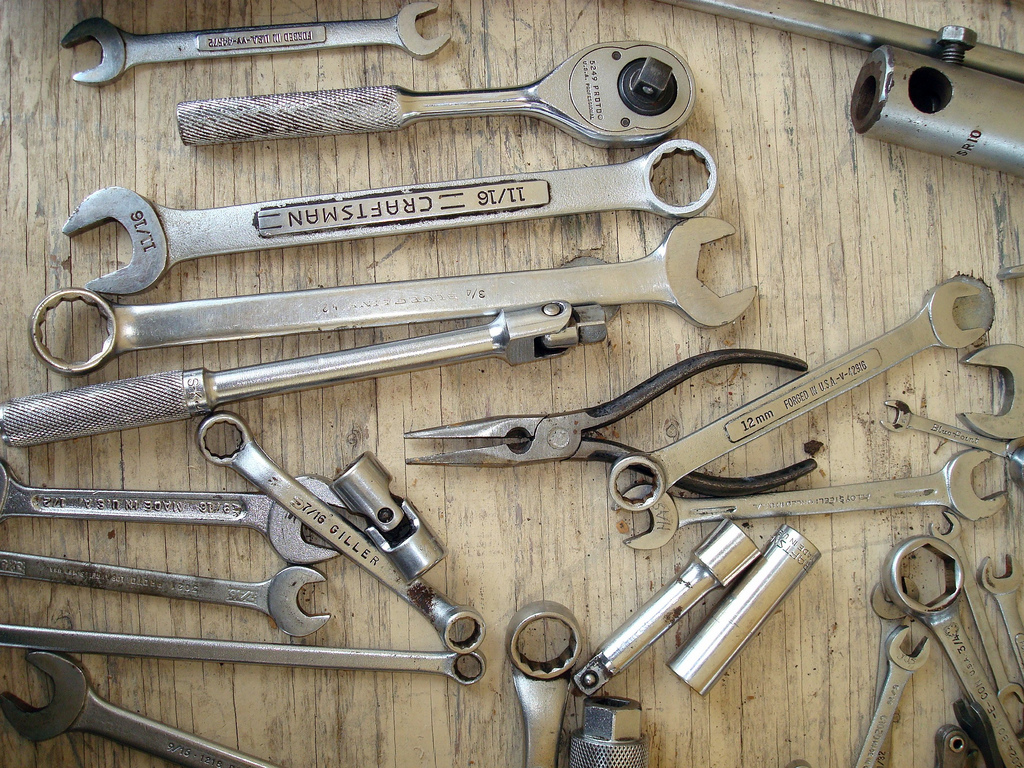 Collection of hand tools