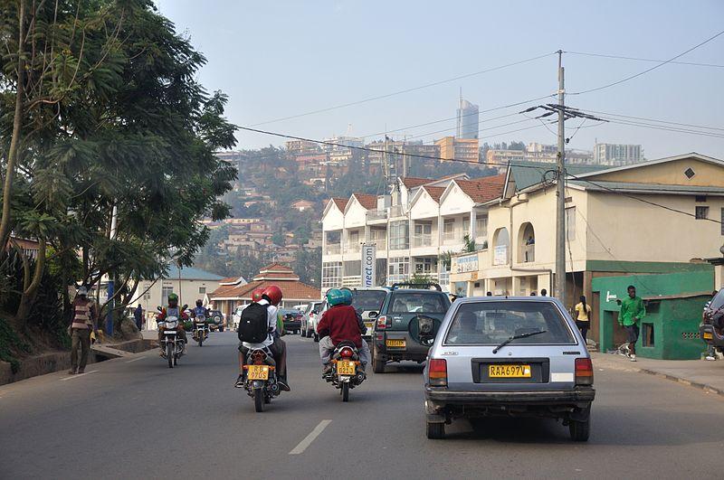 Traffic in Kigali, Rwanda
