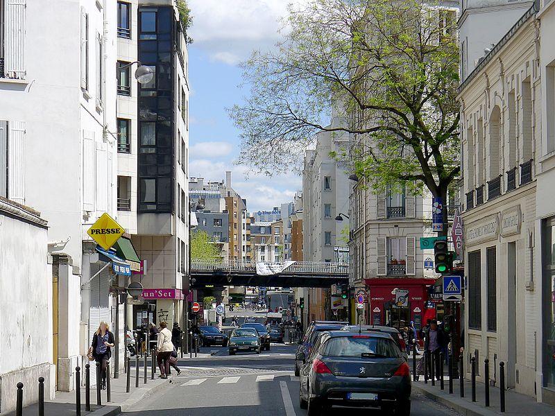 Rue des Orteaux in Paris, France's 20th District