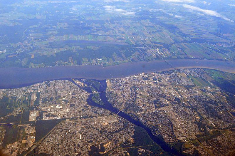 Trois-Rivières, Quebec, Canada Aerial View