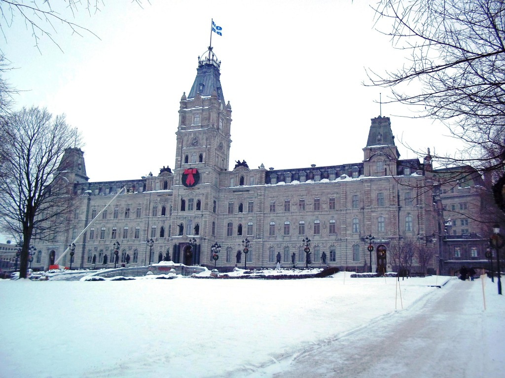 Parliament Hill in Winter, Quebec City, Canada