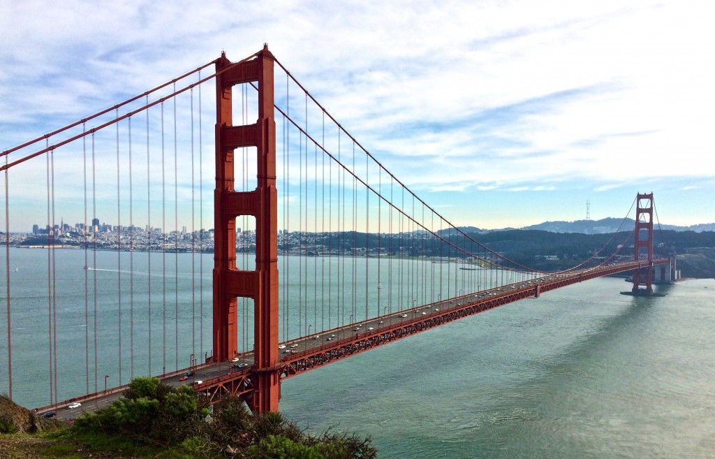 View of Golden Gate Bridge and San Francisco Bay, San Francisco, California