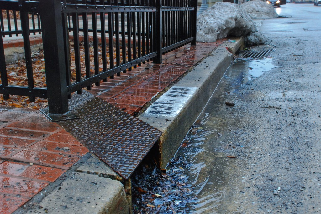 Storm water draining in Baltimore area, Maryland