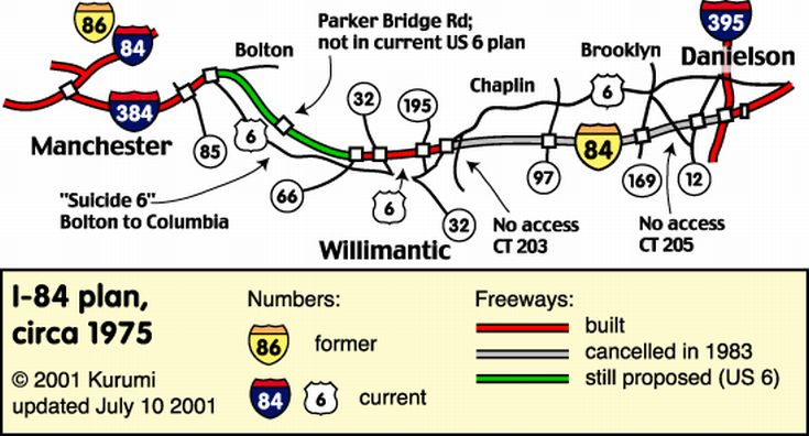 Kurumi Route Six Map, Connecticut