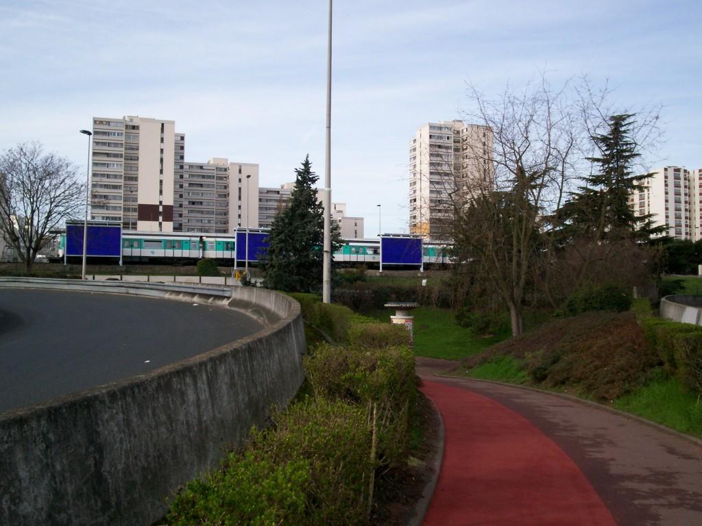 University of Paris-Est Créteil from Highway, Paris, France