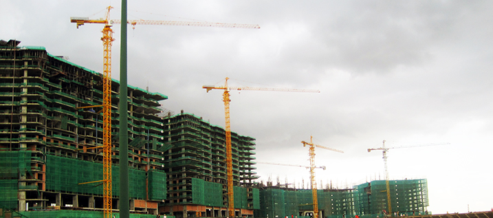 Construction is everywhere in Phnom Penh, Cambodia