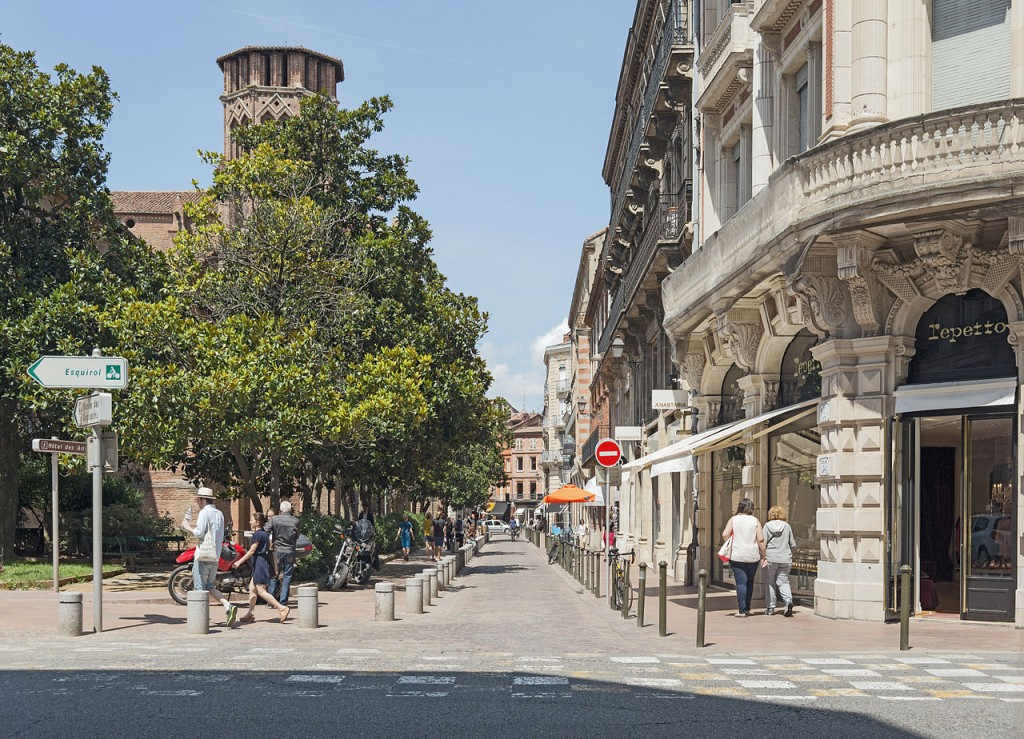 Rue des Arts in Toulouse, France