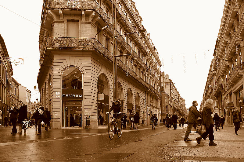 Rue d'Alsace-Lorraine in Toulouse, France