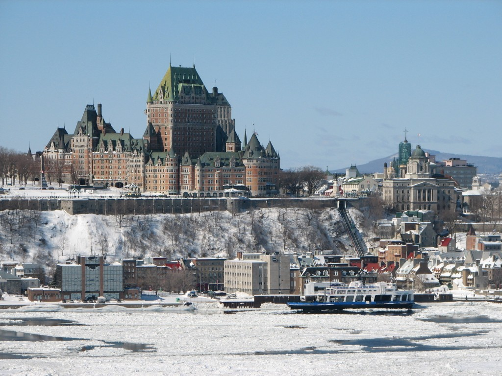 City of  Quebec, Canada in Winter