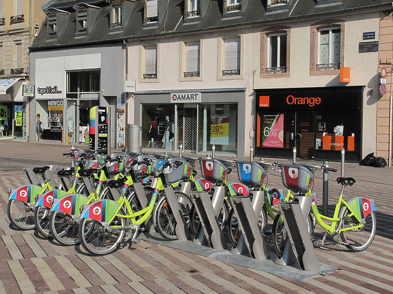 Belfort, France public bike rack
