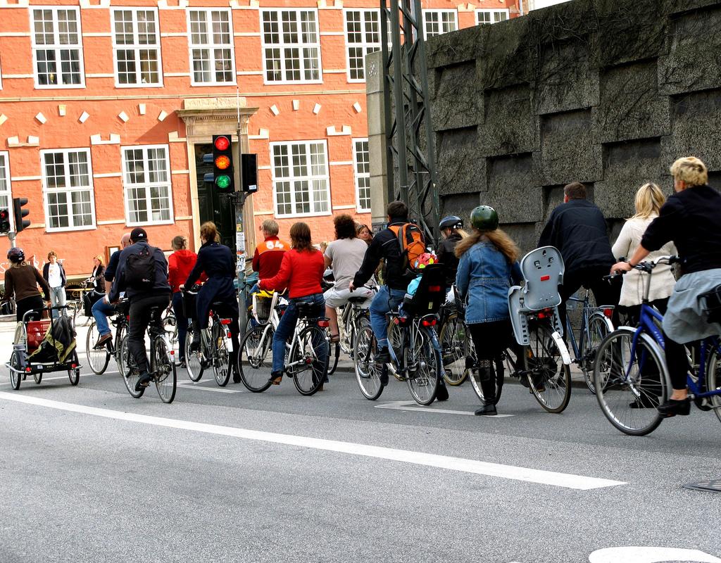 Biking in Copenhagen, Denmark