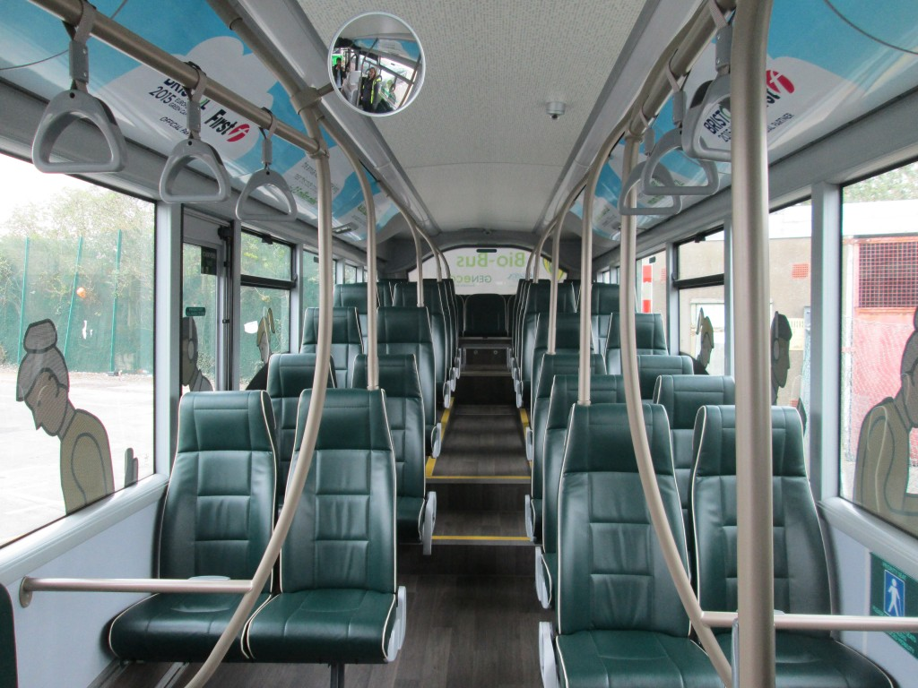 Interior of Bio Bus, Bristol, England