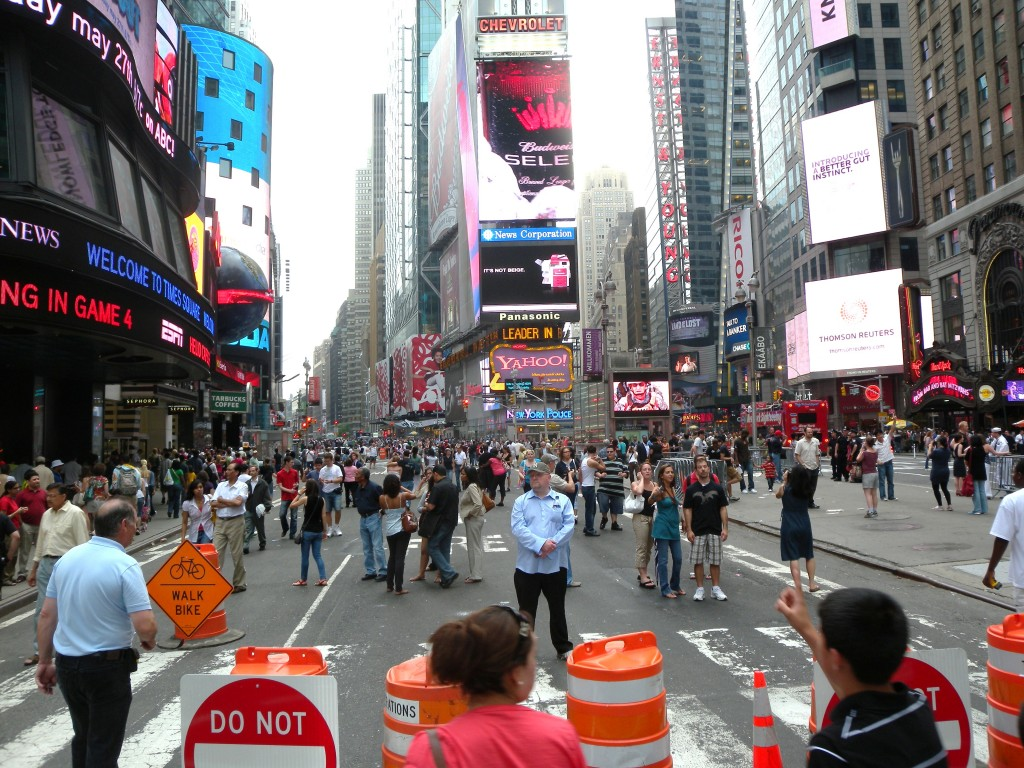 Pedestrianized Times Square, New York City