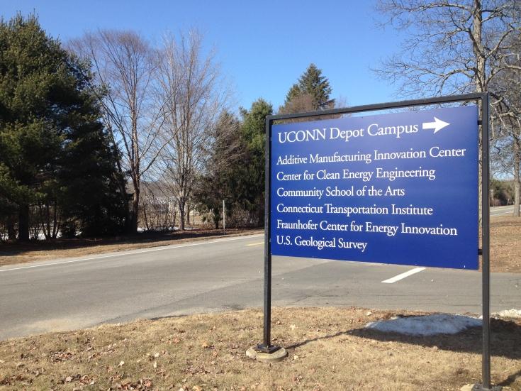 UConn Storrs Mansfield Depot Campus Sign