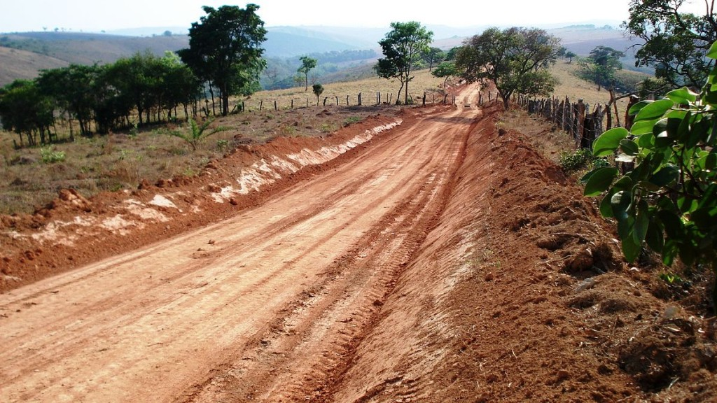 Dirt road in Brazil