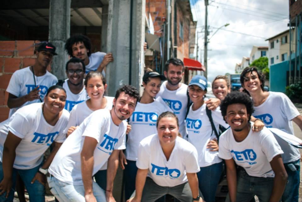 Teto volunteers in Vila Esperança, Salvador, Brazil