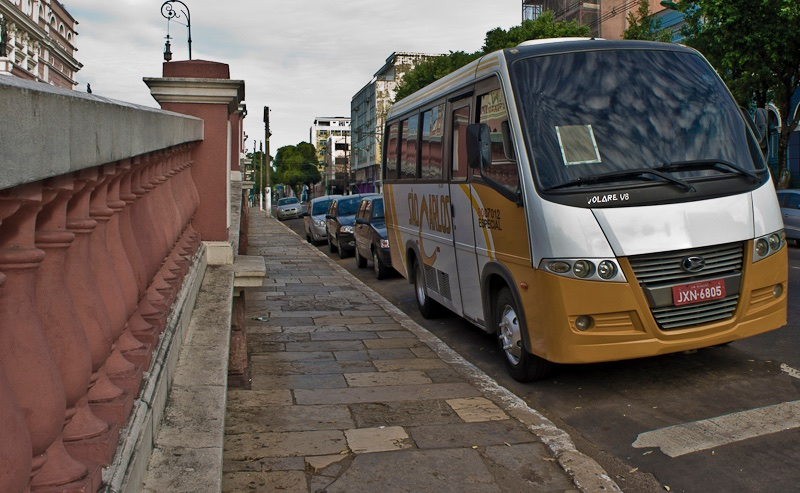 Bus on street in Brazil