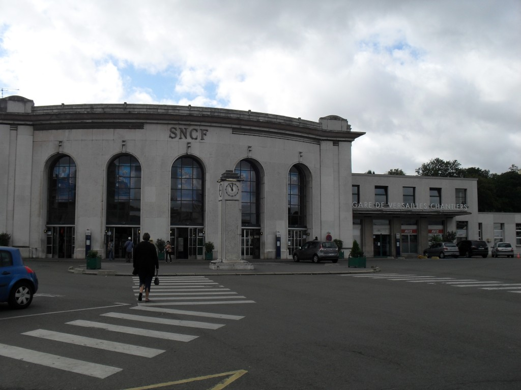Versailles, France Chantiers Train Station seen from Front
