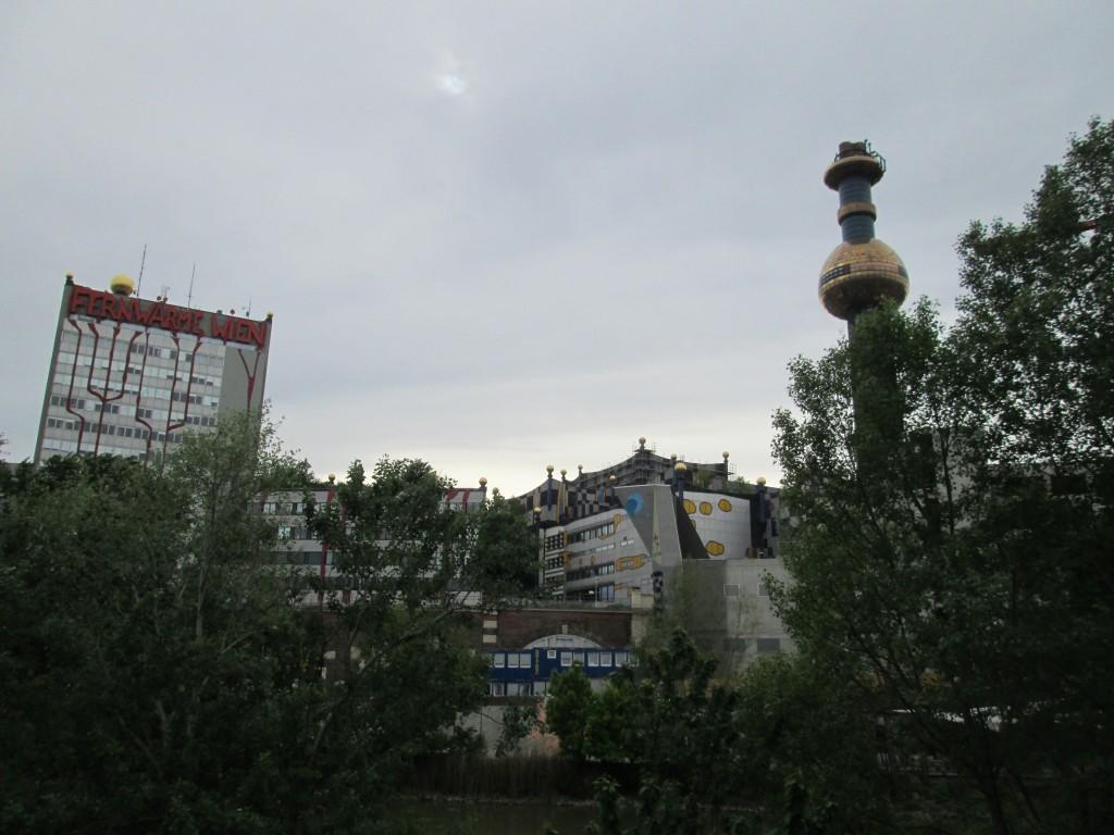 Hundertwasser's district heating plant in Vienna, Austria