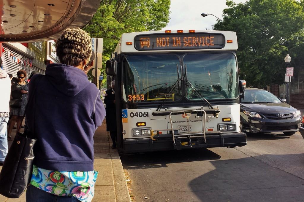 Broken down bus, Baltimore City, Maryland